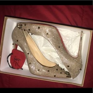 Louboutin Degraspike 100 Gliiter Pigalle shoes